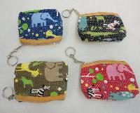 "4.5""x3.75"" Zippered Change Purse [Zoo Animals]"